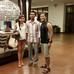 With our driver MJ at the hotel