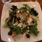 Mixed Greens with blueberry vinigrette
