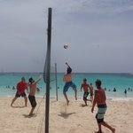 Volleyball daily on the beach