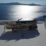Couché de soleil sur Therasia depuis Firostéfani