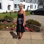 my beautiful fiancee outside reception x