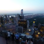 Sunset view from the observation deck on the Top of the Rock.