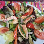 Filets de rougets en salade.