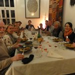 Convivial dinner with Jean-Gabriel