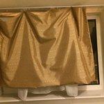Broken short curtains