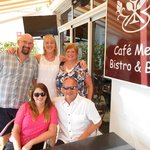 David & Lesley of Cafe Med with David,Lesley & Kirsty