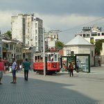 Tram's starting point at the Taksim Square