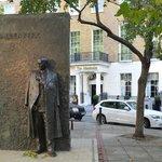 Wallenberg Memorial outside hotel entrance