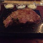 Steak cooking on the stone - amazing!!