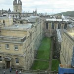 The view of St Giles Cathedral and the ocean from our room.