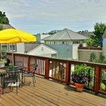 Upper patio space