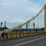 The Roberto Clemente bridge is closed to cars before and after the games.