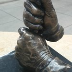 Where else would you find a statue of a pair of hands? In this case, Ralph Kiner's.