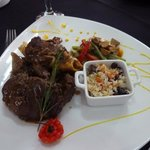 Delicious stewed lamb
