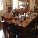 The morning breakfast table at Ashton's