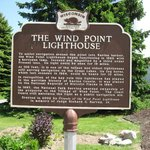 Wind Point Lighthouse historical marker