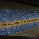 Rememberance wall for all 2983 victims...