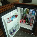 Minibar is well stocked...if are in desperate need...