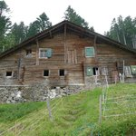 "Nearby ""alpage chalet"" where the farmer makes his own local goat cheese"