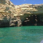 Costal boat tour of the caves
