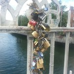 Padlocks of young love. - lucyclaire