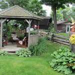 gazebo - great place to sit and relax with a glass of wine