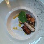 Le plat de poisson: Saint pierre de petit bateau aubergine et tofu