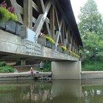 Covered Bridge at the Naperville Riverwalk