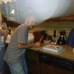 Cutting Lizzie's cake!