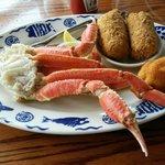Meaty crab legs