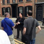 Jofre discussing the history of the East End.