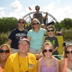 Whole Family on the airboat