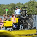 Captain Fred is an experienced airboat captain.