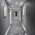 Hallway, showing boutique hotel feel