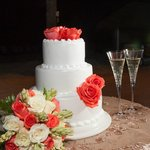 Cake and Bridal Bouquet