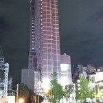 Hotel view walking from Shinjuku JR station