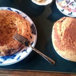 GIANT sweet potato pancakes. Had to set one aside on top of my grits :)