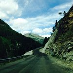 Drive from Waterton to Cameron lake