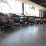 a whole floor dedicated to tanks, guns & transport