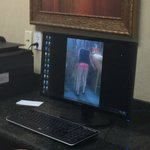 vulgar picture on business center computer