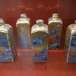 Hand-painted Chinese flasks