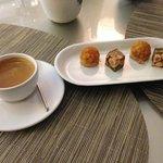 "Confections-caramel apple ""tarts"" and hazelnut, pistachio nougat"