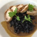 Rabbit with black beans and mustard sauce