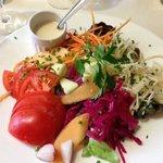 Salade crudite with citrus vinaigrette