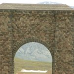 Yellow stone  entrance arch
