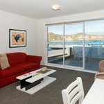 waterfront unit lounge with sofa bed