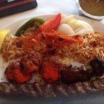 3 kabobs and afghani rice