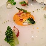 Lobster salad with sweet onion mouse