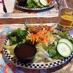 Salat, gehört zum Menü