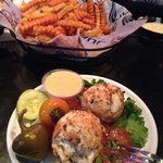 Crab Cakes and Crabby Fries